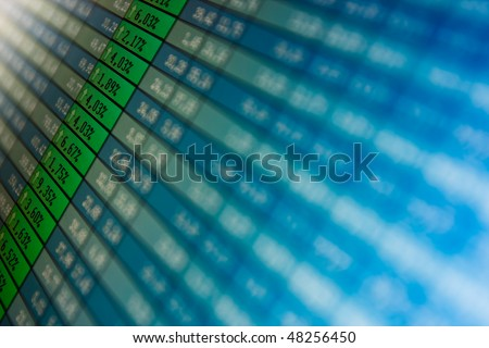 financial graph- SUCCESS -growth, benefits - stock photo