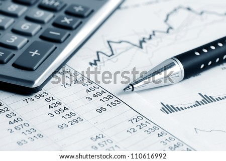 Financial graphs and charts - stock photo