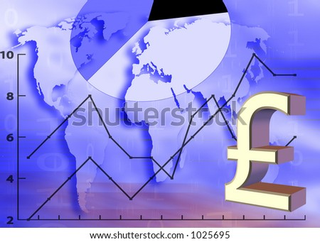 financial growth in Europe; analysis - stock photo
