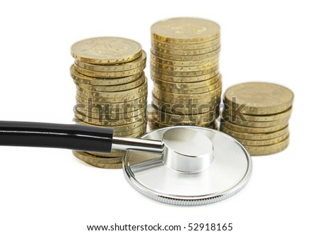Financial health. Clipping path included. - stock photo