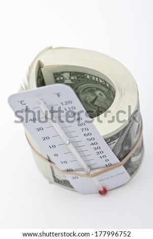 Financial Heat - stock photo