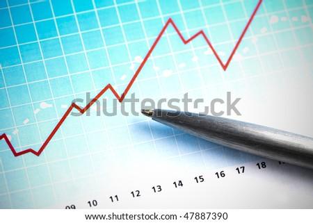 Financial indicators - stock photo