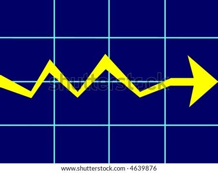 financial market bearish - stock photo
