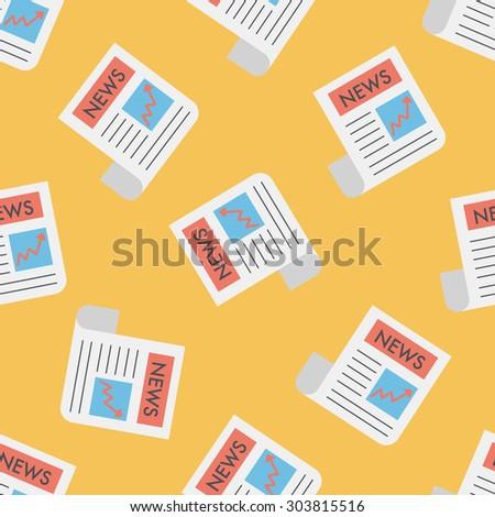 financial news flat icon,eps10 seamless pattern background - stock photo
