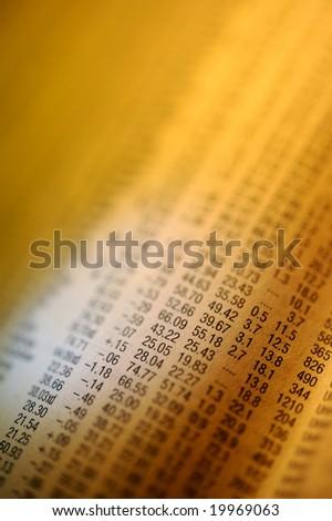 Financial newspaper - stock photo