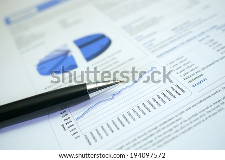 financial numbers document, numbers are fictional