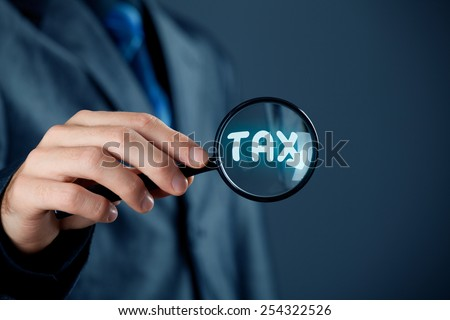 Financial officer focused on tax. Tax optimization concept. - stock photo