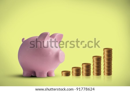Financial Piggy Bank - stock photo