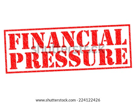 FINANCIAL PRESSURE red Rubber Stamp over a white background. - stock photo