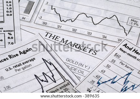 Financial Related Charts - stock photo