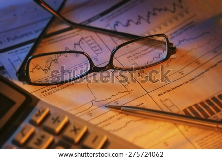 Financial Research - stock photo