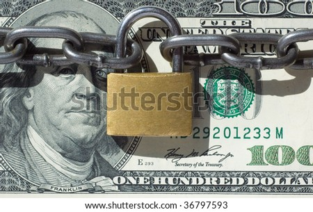 Financial security concept image - stock photo