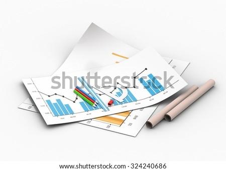 Financial skeching  - stock photo