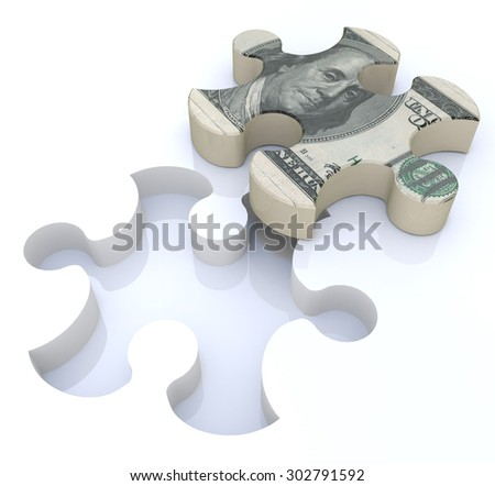 Financial solutions puzzle  - stock photo