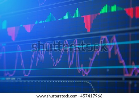 financial stock market concept and background
