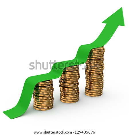Financial success concept - stock photo