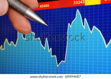 financial success with investment of money at stock exchange