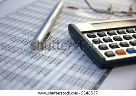 Financial tools - stock photo