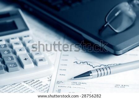 Financial work. - stock photo