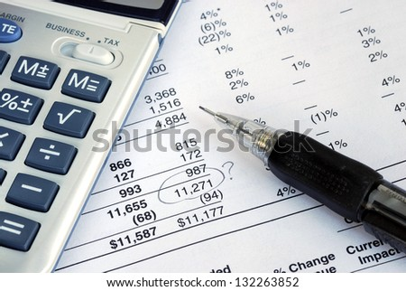 Find a mistake when auditing the financial statement - stock photo