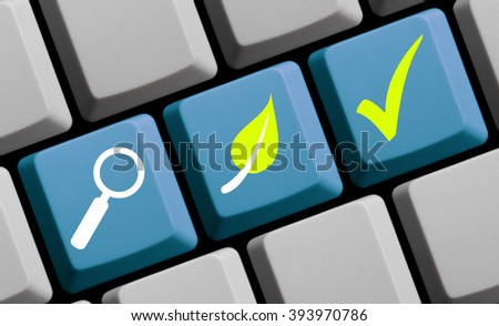 Find green ecological solutions online - stock photo