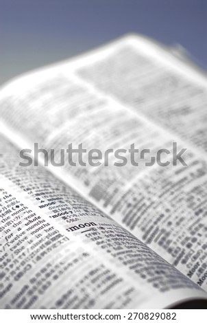 Find out in the English-Japanese dictionary.  - stock photo
