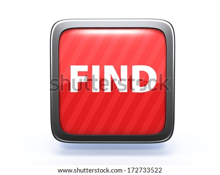 find square icon on white background - stock photo