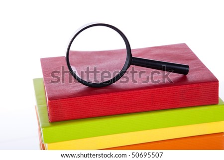 Finding the right book and best information - stock photo