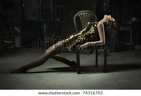Fine art photo of the series beauty and beast - stock photo