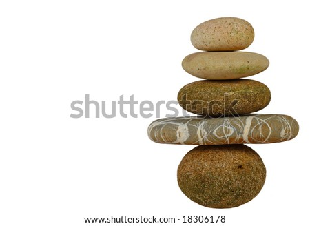 fine background of isolated stone zen with space for text - stock photo