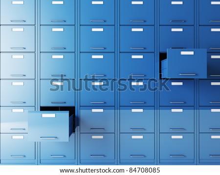 fine 3d image of file cabinet folder - stock photo