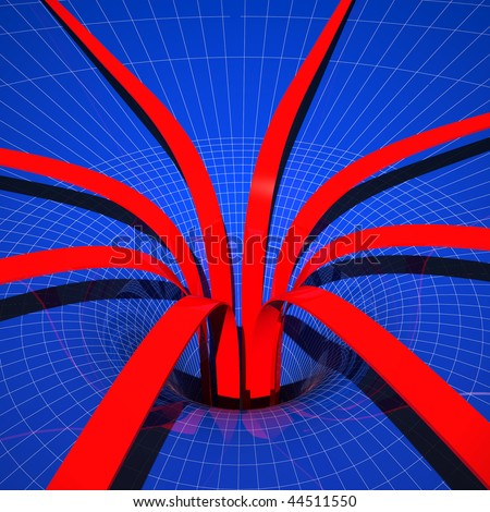 fine 3d image of web connection, abstract illustration background - stock photo
