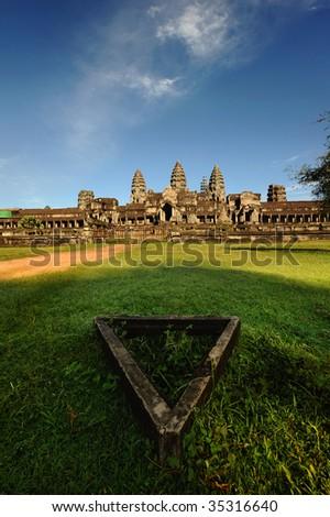 Fine day at Angkor Wat, Cambodia - stock photo