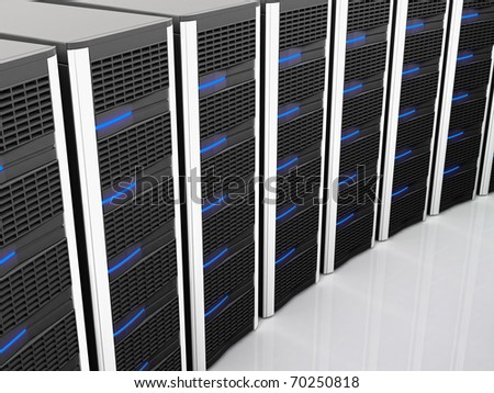 fine image of classic black server 3d background