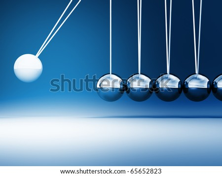 fine image of classic 3d newton cradle background - stock photo