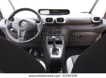 fine image of modern car's interior background - stock photo