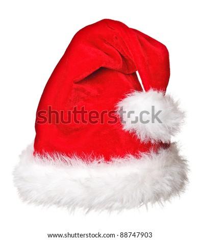 fine image of santa claus hat - stock photo