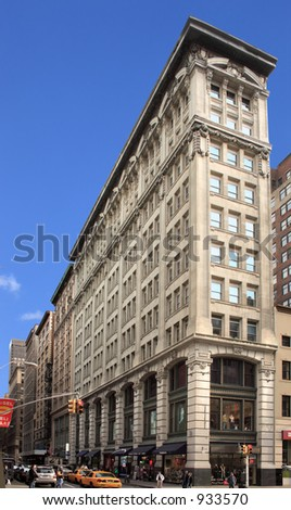 Fine Manhattan office building shows off its baroque ornamentation - stock photo