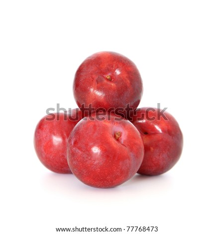 Fine nectarines. All on white background.
