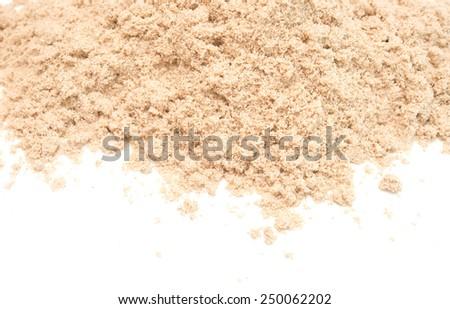 fine sand isolated on whitete background - stock photo