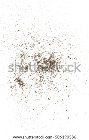 fine sand on a white background