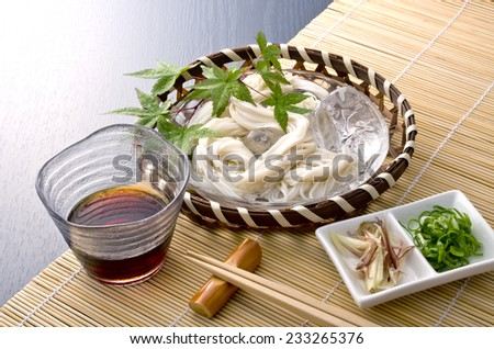 fine white noodles cooked - stock photo