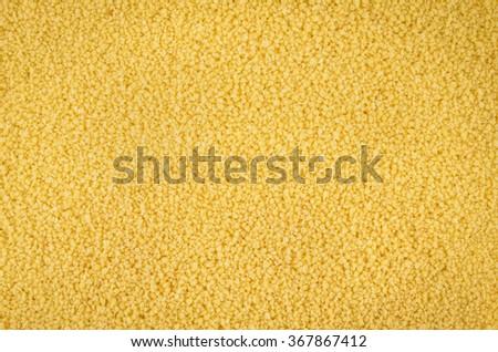 fine yellow millet background - stock photo