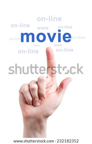 Finger clicks online movies word