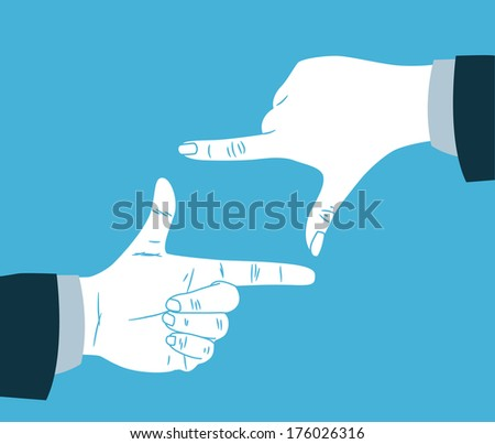 finger frame - stock photo