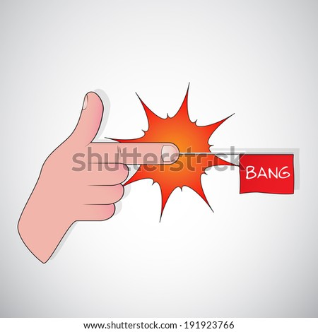 finger gun - bang  - stock photo