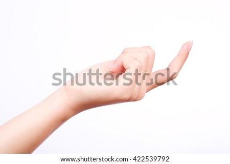 finger hand symbols isolated come here follow me or beckoning the finger on the white background - stock photo