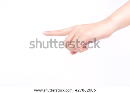 finger hand symbols isolated the concept touch screen digital idea on white background