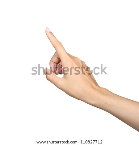 finger point isolated white background