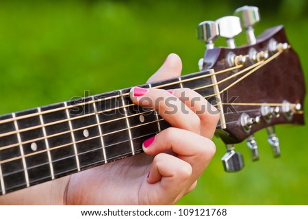 Finger Position G Major Guitar Chord Stock Photo Royalty Free